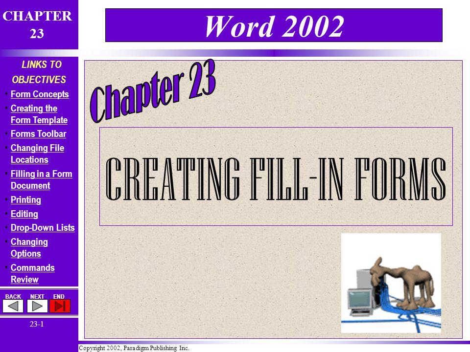 Copyright 2002, Paradigm Publishing Inc.