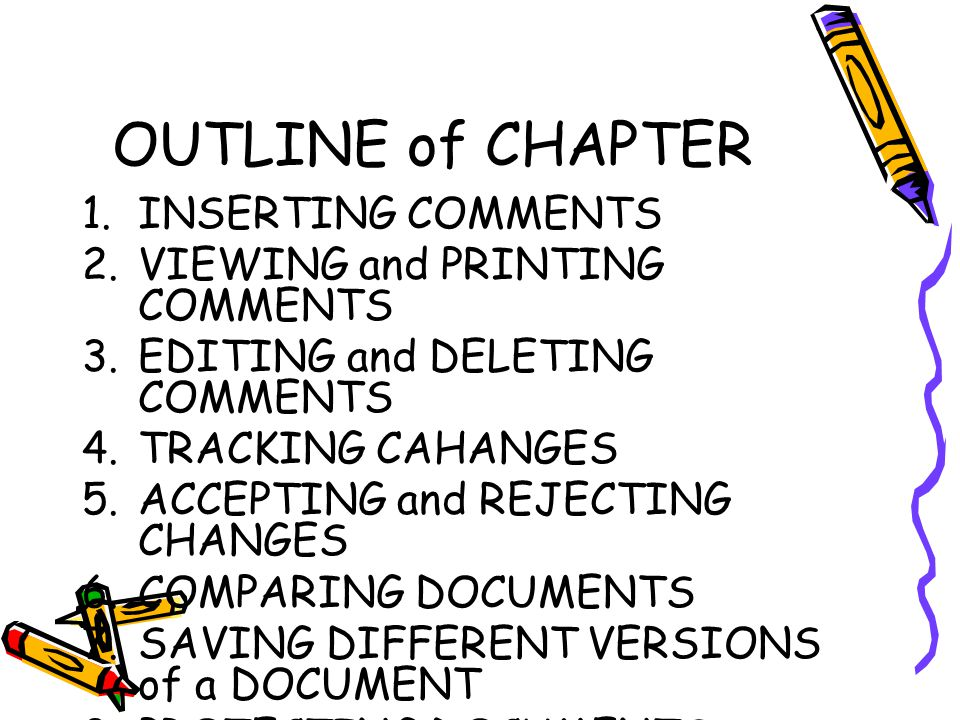 7.Saving Different Versions of a Document 3.Change the title of your document 4.Choose File  Versions.