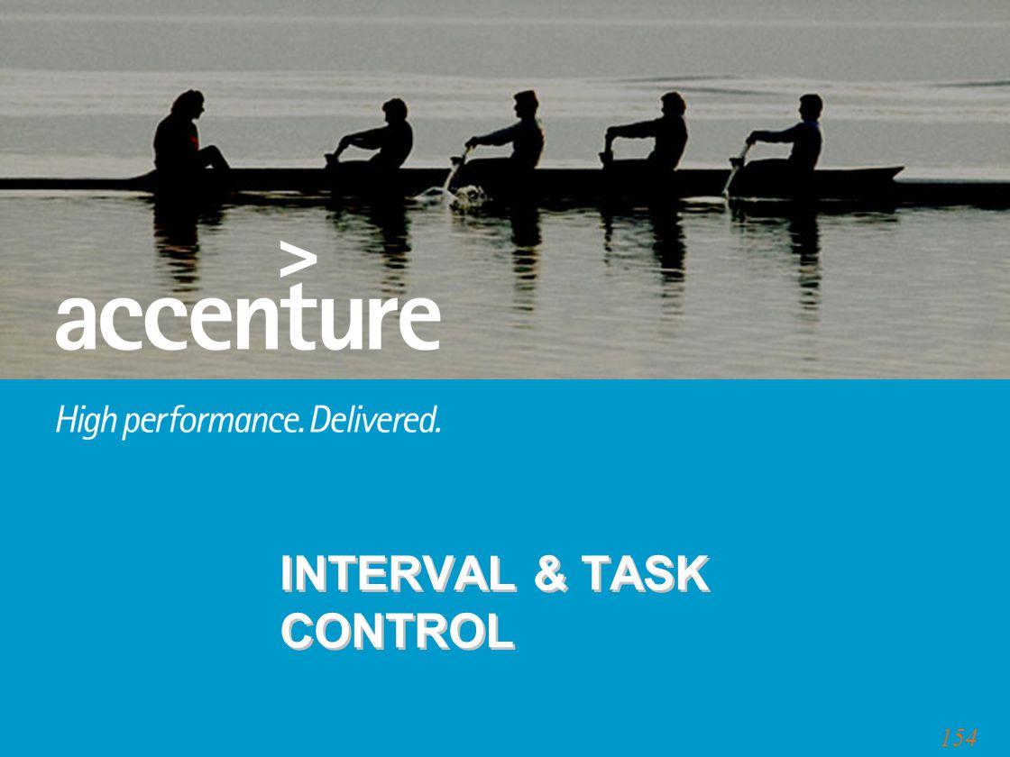 154 INTERVAL & TASK CONTROL