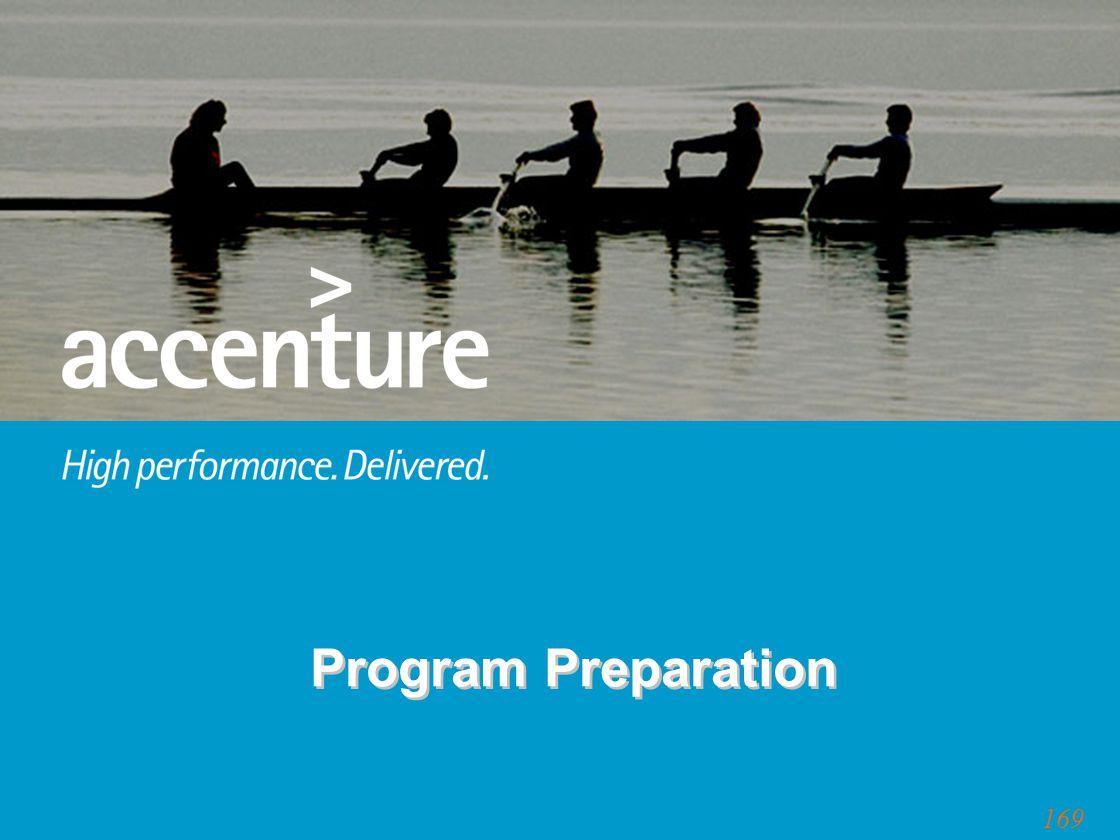 169 Program Preparation