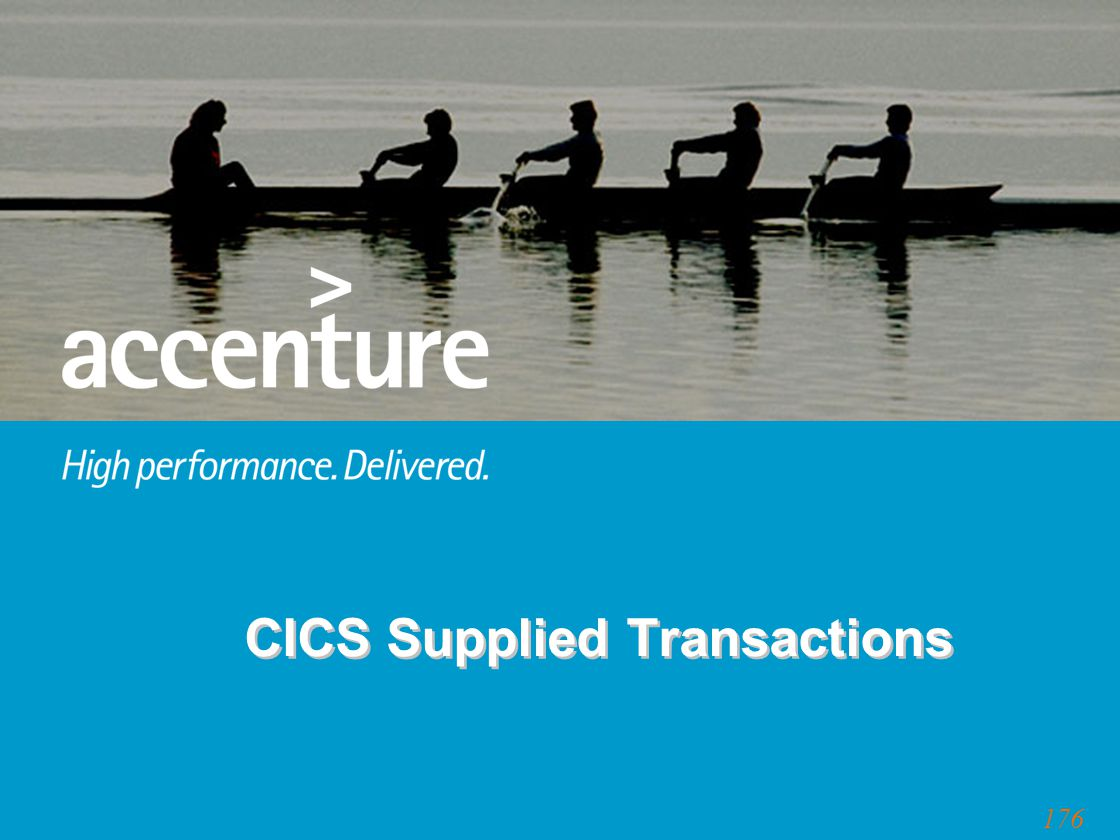 176 CICS Supplied Transactions