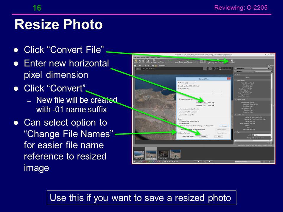 Reviewing: O-2205 Photo Processing with Nikon ViewNX2 15