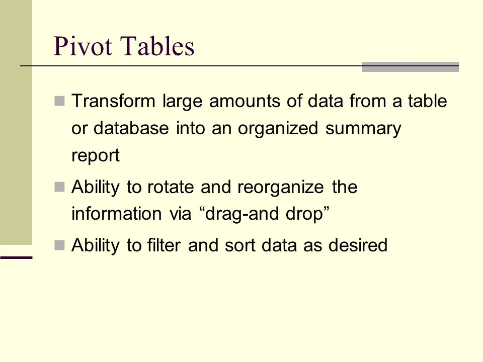 Solver Reports Answer Report = lists the target cell and the changing cells with their original and final values, constraints, and information about the constraints.