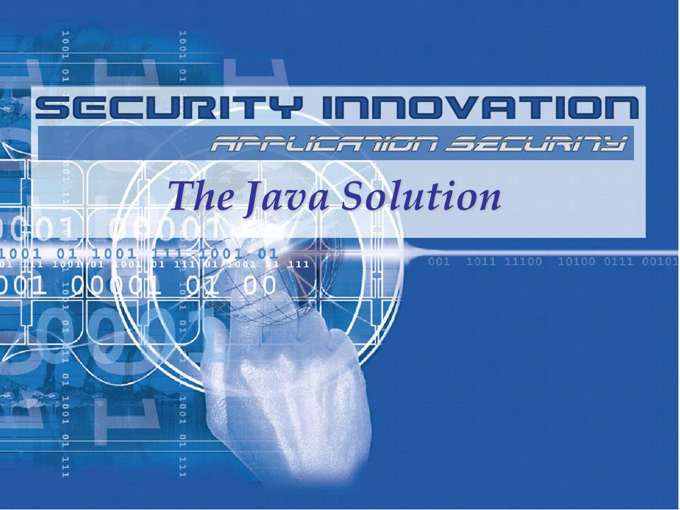 The Java Solution