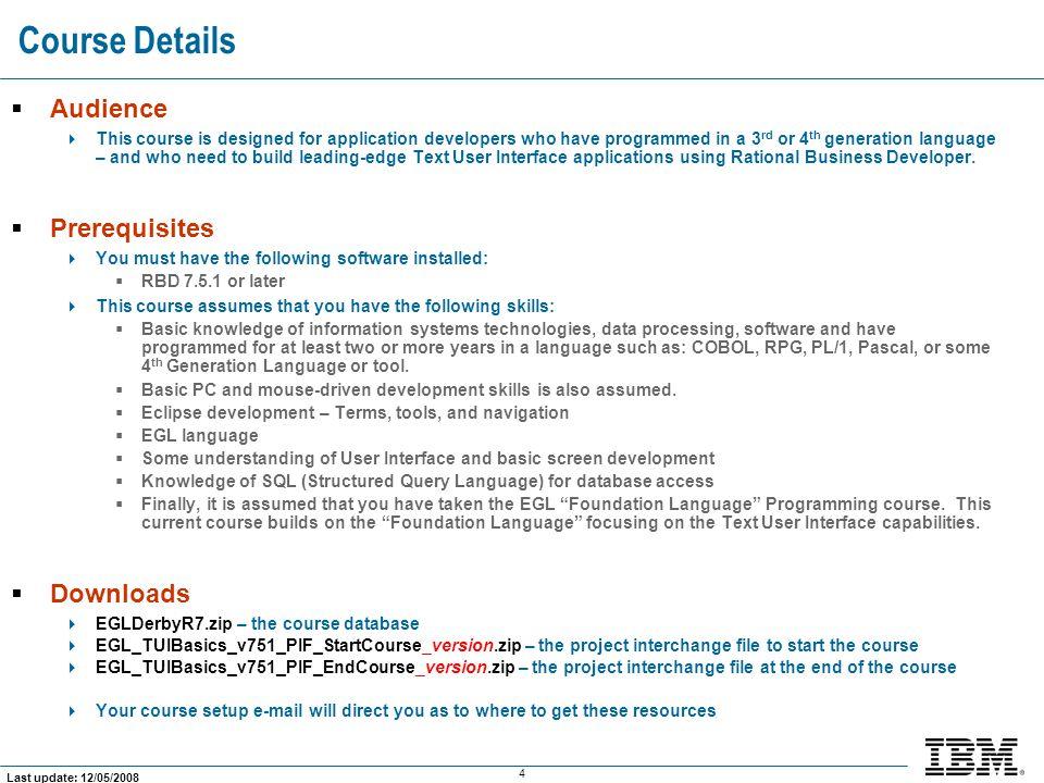 175 Last update: 12/05/2008 What Does the Customer List Program Look Like.