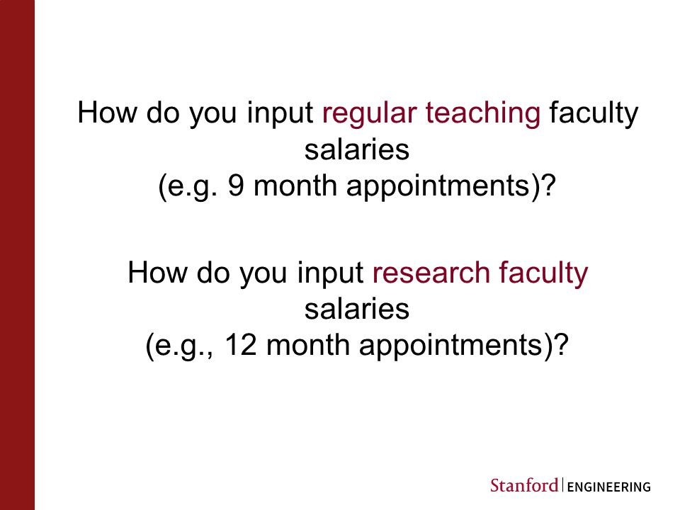 How do you input regular teaching faculty salaries (e.g.