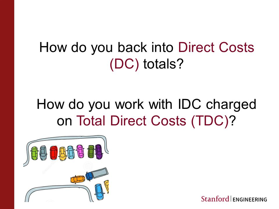 How do you back into Direct Costs (DC) totals.