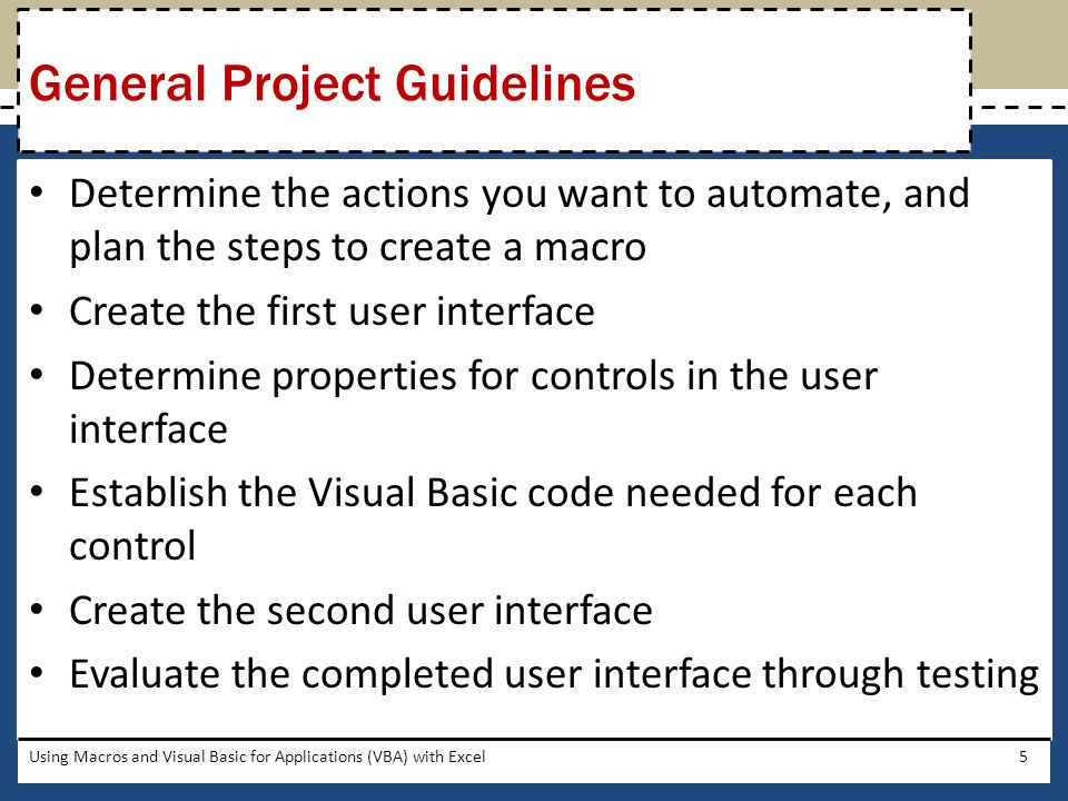 Using Macros and Visual Basic for Applications (VBA) with Excel46 Removing the Outline from the Group Control