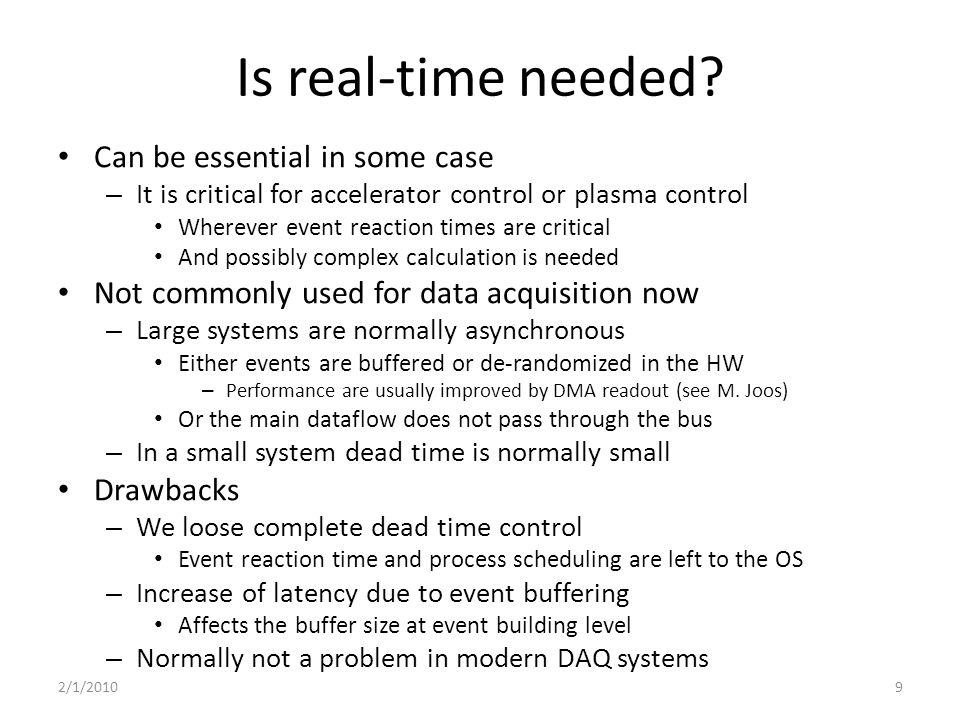 Is real-time needed.