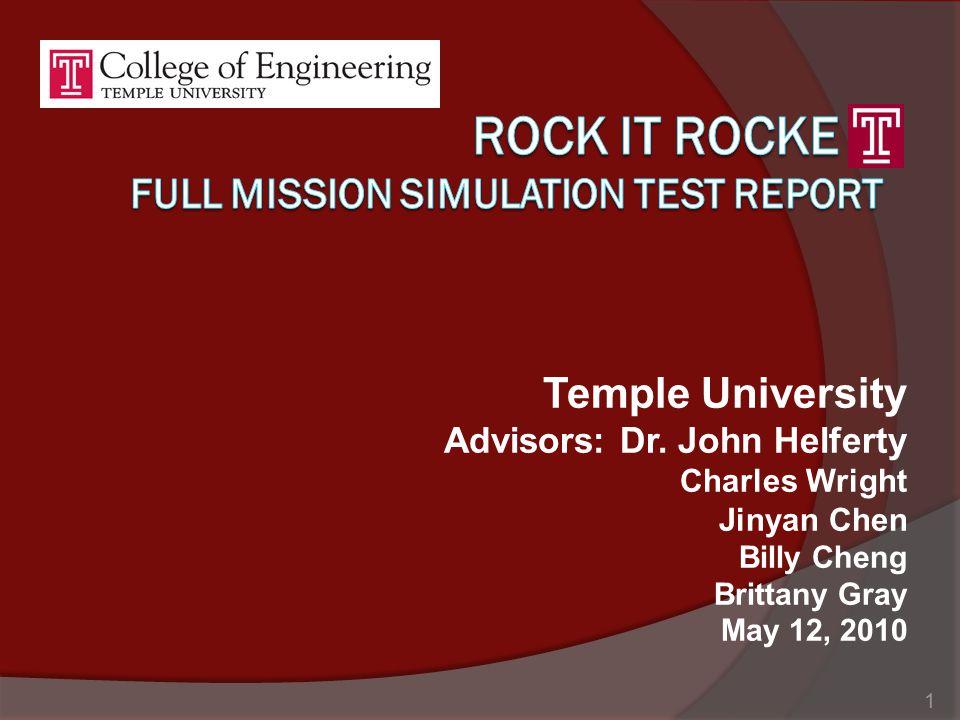 Temple University Advisors: Dr.