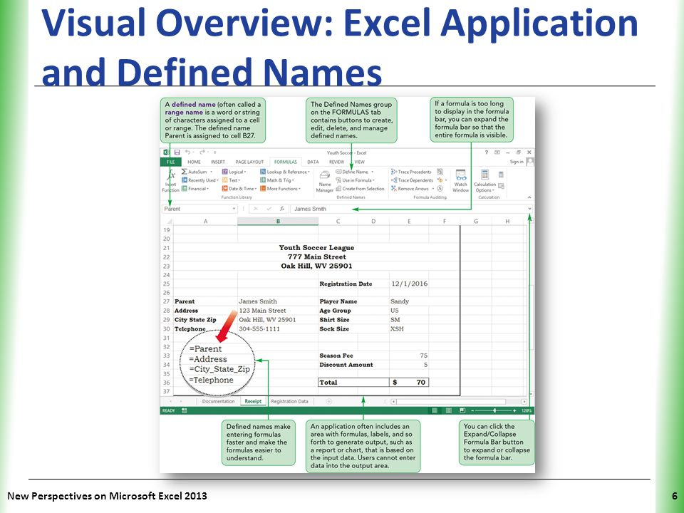 XP Planning an Excel Application An Excel application is a spreadsheet written or tailored to meet specific needs Planning includes designing how the worksheet(s) will be organized; you can: – Enter and edit data (setting where and what types of data can be entered) – Store data after it has been entered – Use formulas to manipulate and perform calculations on data – Display outputs, such as reports and charts New Perspectives on Microsoft Excel 20137