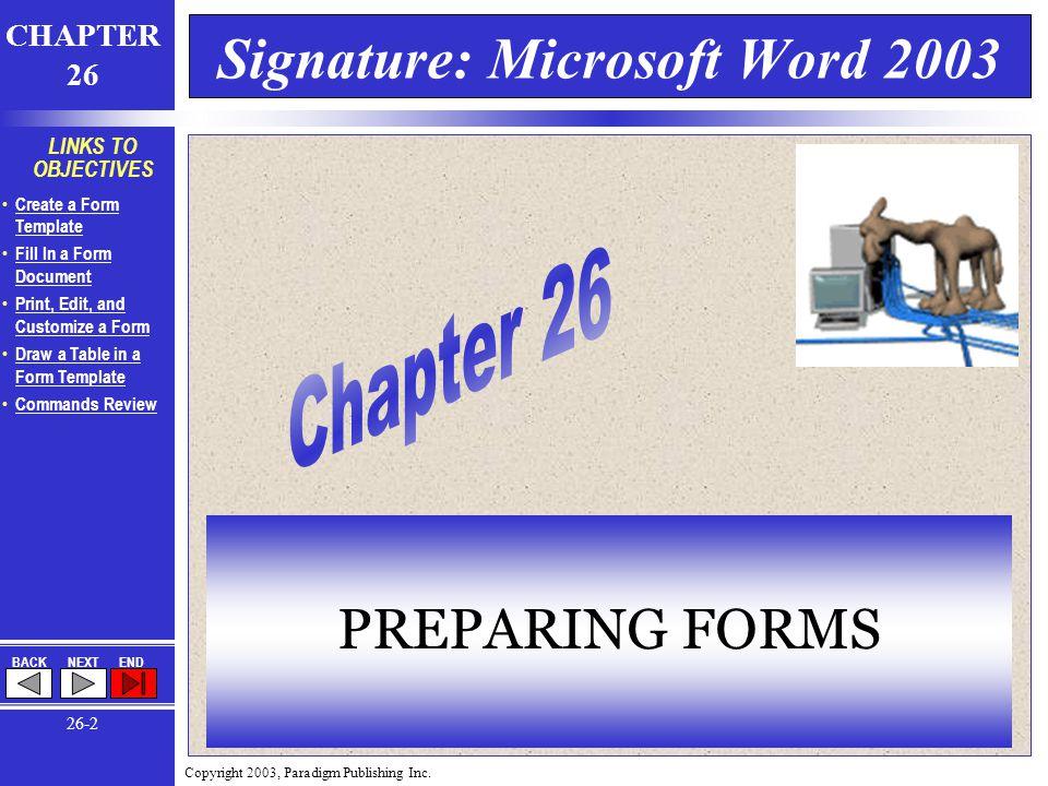 Copyright 2003, Paradigm Publishing Inc.