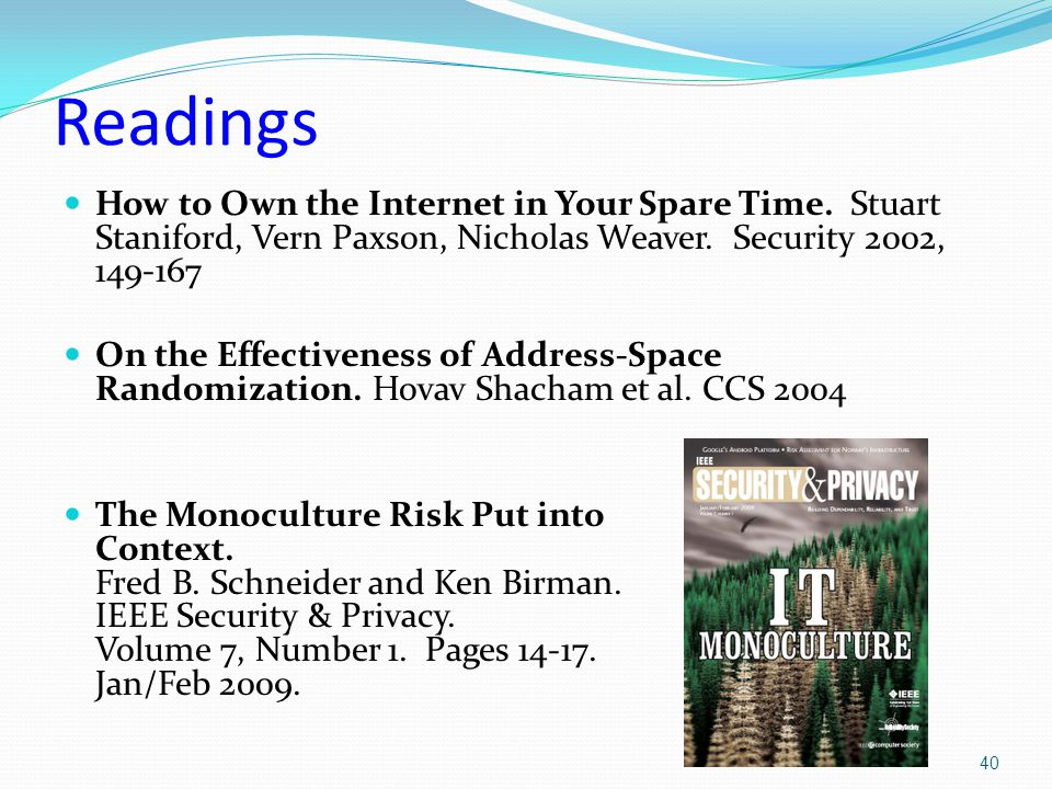 Readings How to Own the Internet in Your Spare Time.