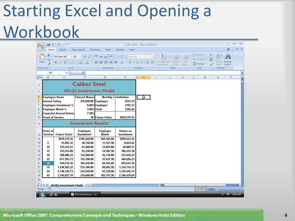 Setting the Check Box Control Properties Microsoft Office 2007: Comprehensive Concepts and Techniques - Windows Vista Edition67