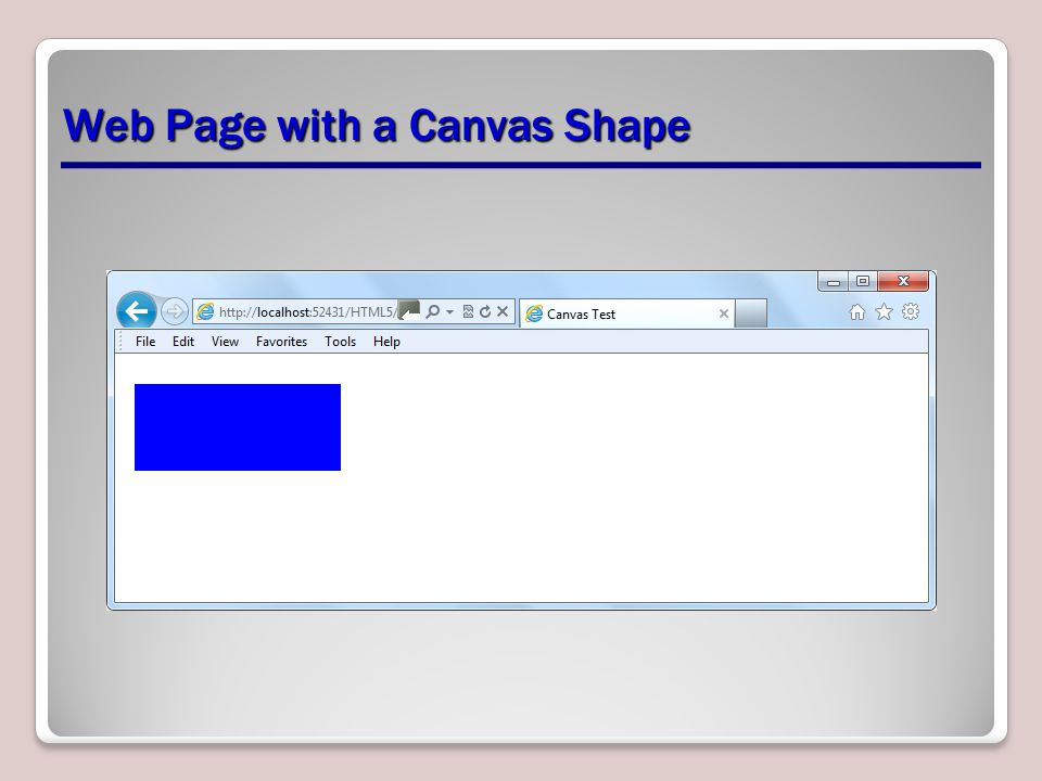 Web Page with a Canvas Shape