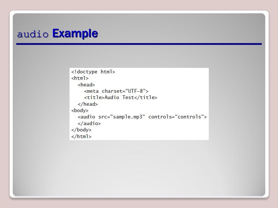 audio Example