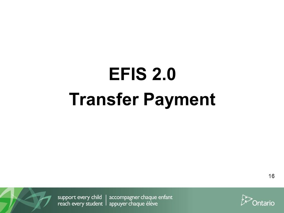 EFIS 2.0 Transfer Payment 16