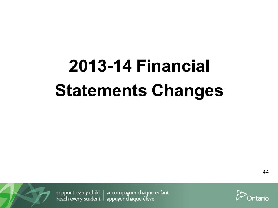 2013-14 Financial Statements Changes 44