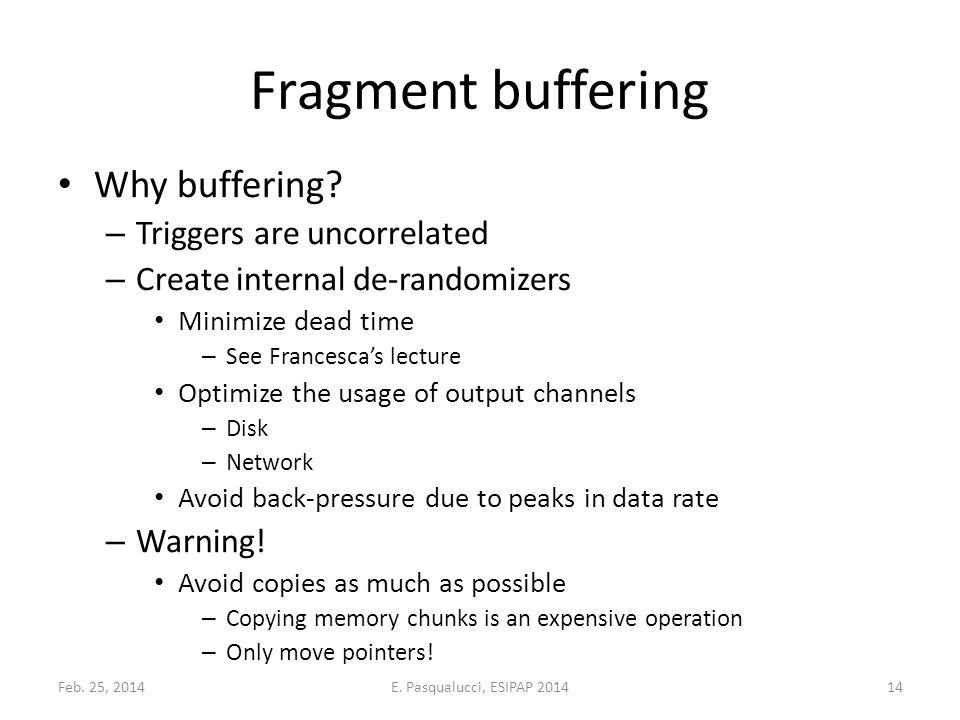 Fragment buffering Why buffering.
