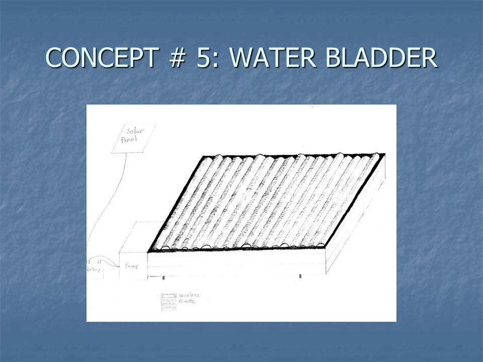 CONCEPT # 5: WATER BLADDER