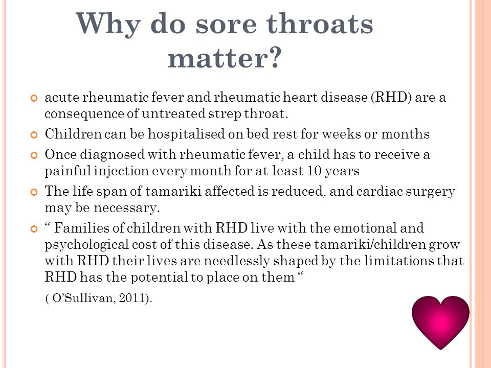 Why do sore throats matter.