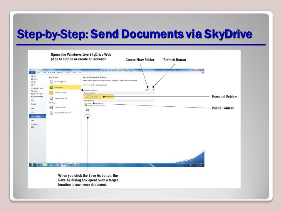 Step-by-Step: Send Documents via SkyDrive