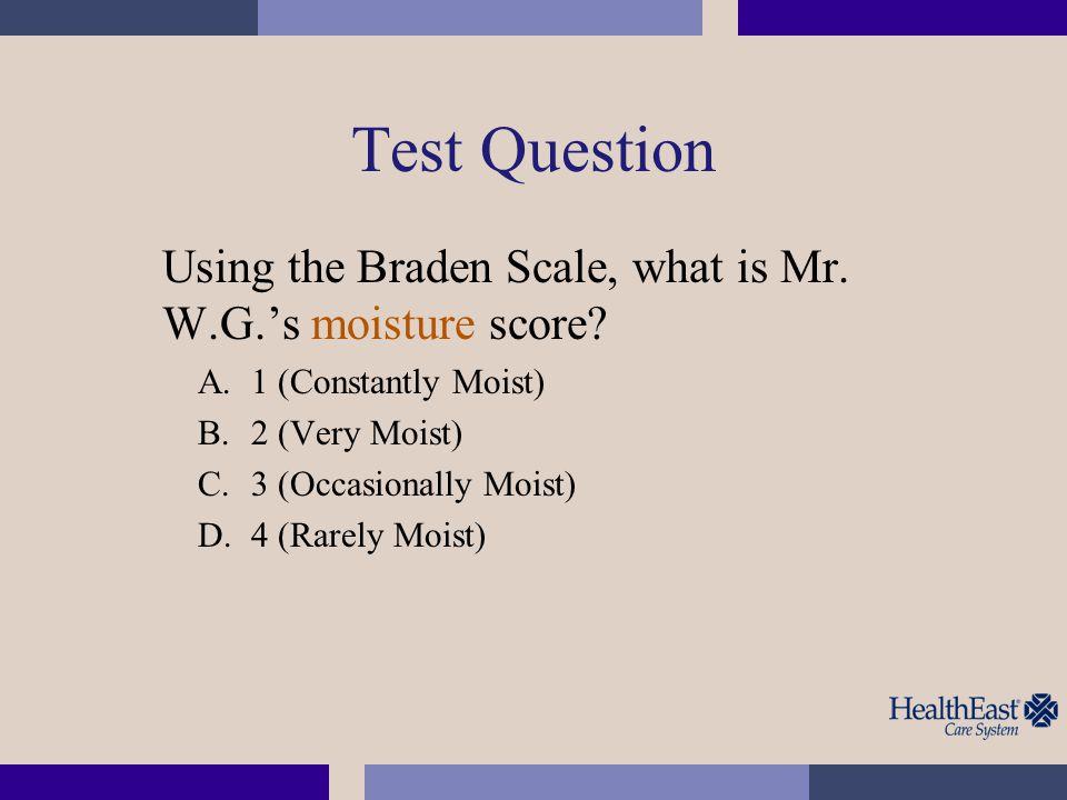 Test Question Based on Mr.