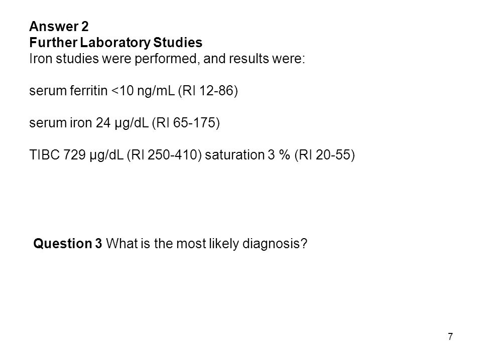 38 Answer 2 Further Laboratory Studies: None Question 3 What is the most likely diagnosis.
