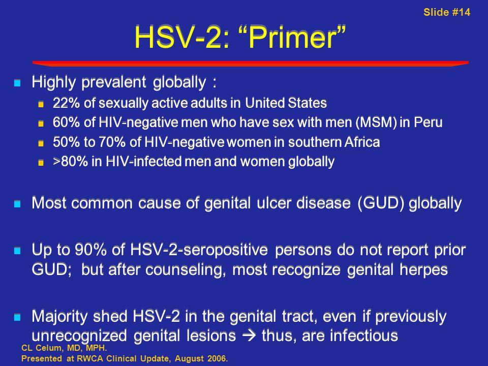Slide #14 CL Celum, MD, MPH. Presented at RWCA Clinical Update, August 2006.