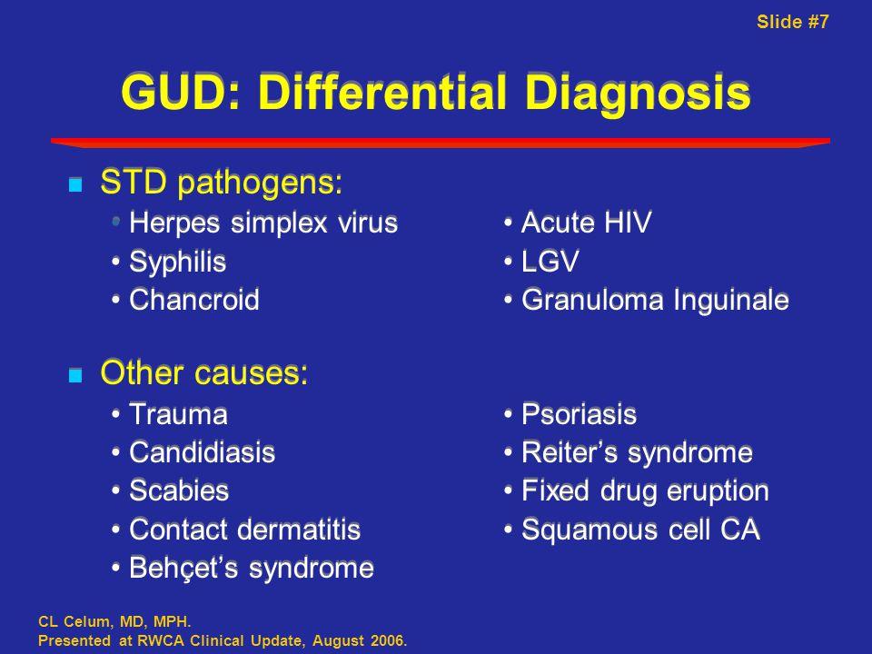 Slide #7 CL Celum, MD, MPH. Presented at RWCA Clinical Update, August 2006.