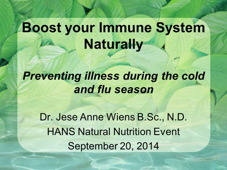 What can lower immunity.