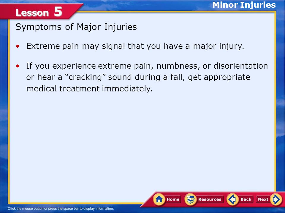 Lesson 5 The R.I.C.E. Procedure Minor Injuries