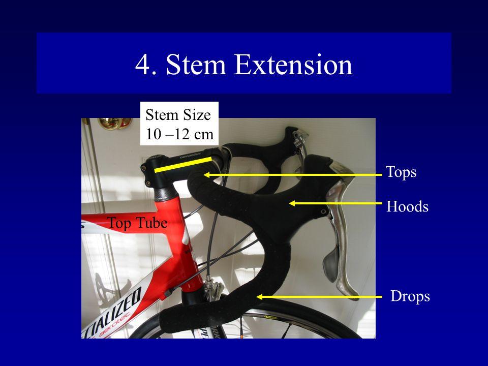 4. Stem Extension Stem Size 10 –12 cm Top Tube Tops Hoods Drops