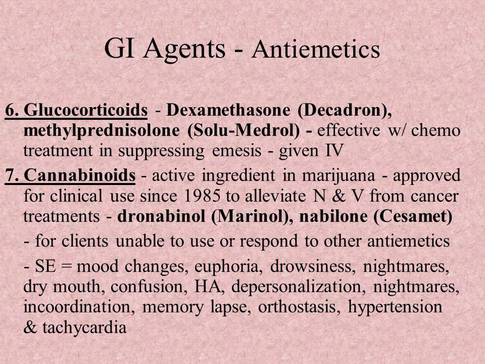 GI Agents - Antiemetics 6.
