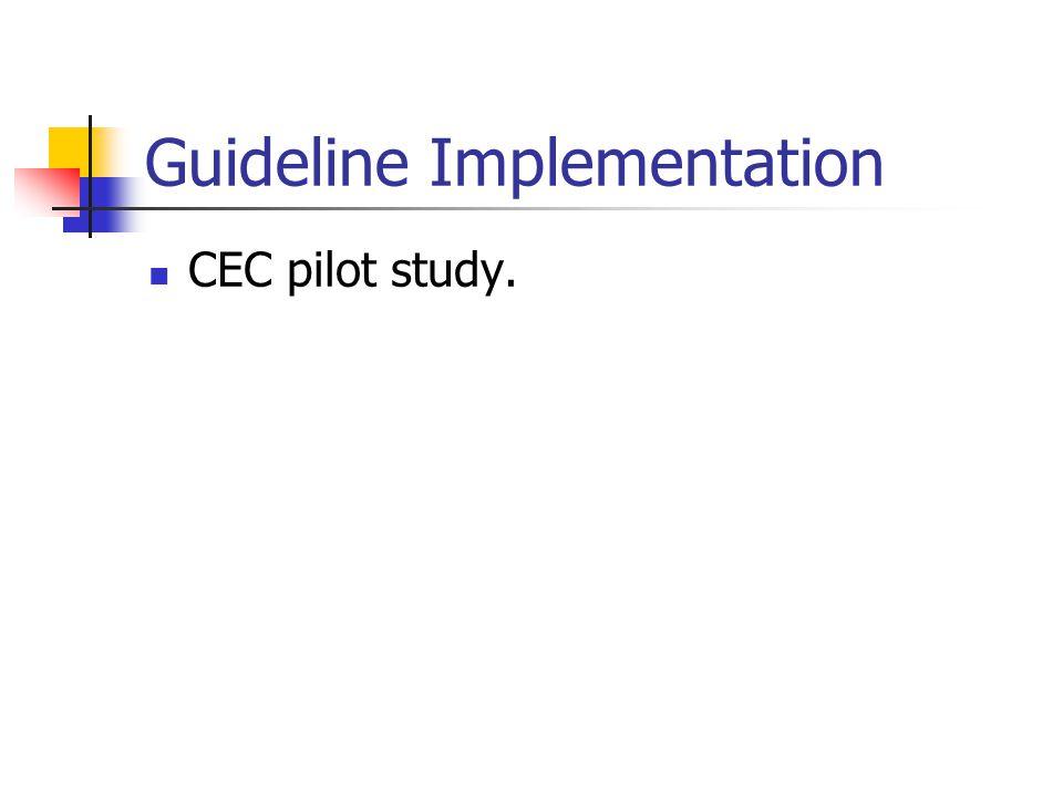 Guideline Implementation CEC pilot study.