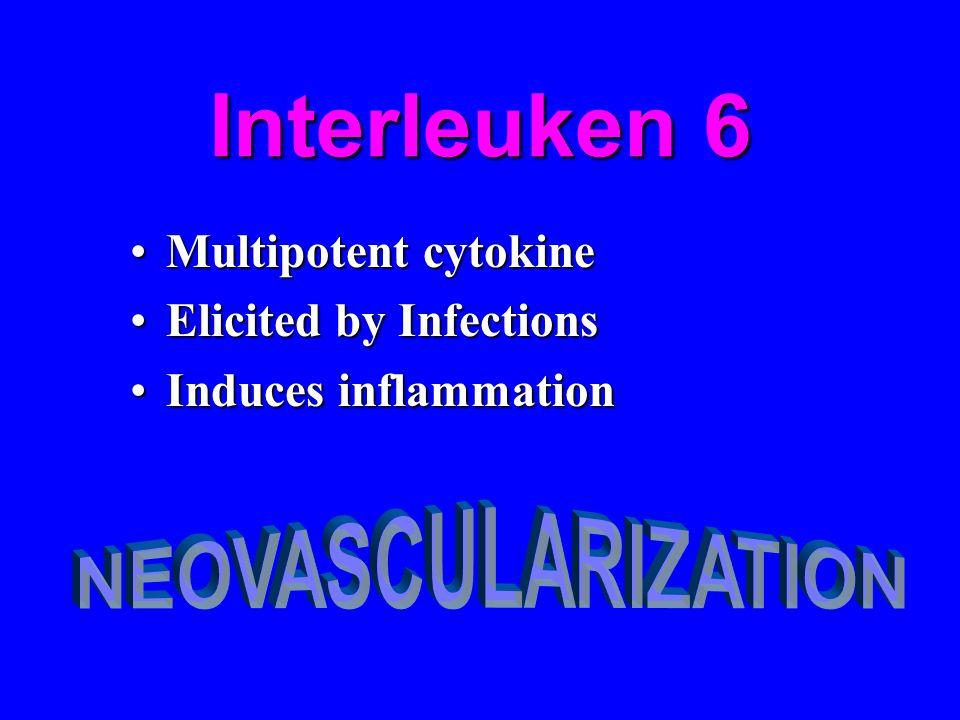 Interleuken 6 Multipotent cytokineMultipotent cytokine Elicited by InfectionsElicited by Infections Induces inflammationInduces inflammation