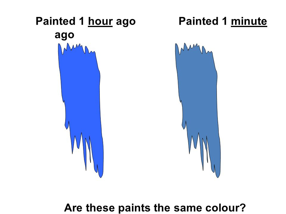 Painted 1 hour agoPainted 1 minute ago Are these paints the same colour?