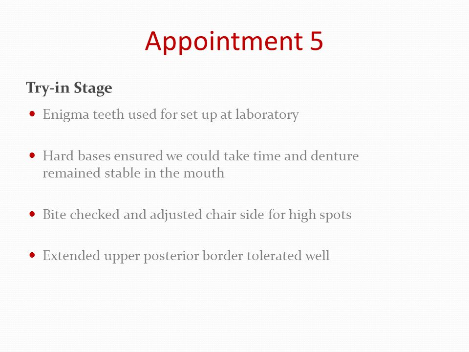 Appointment 5 Try-in ready
