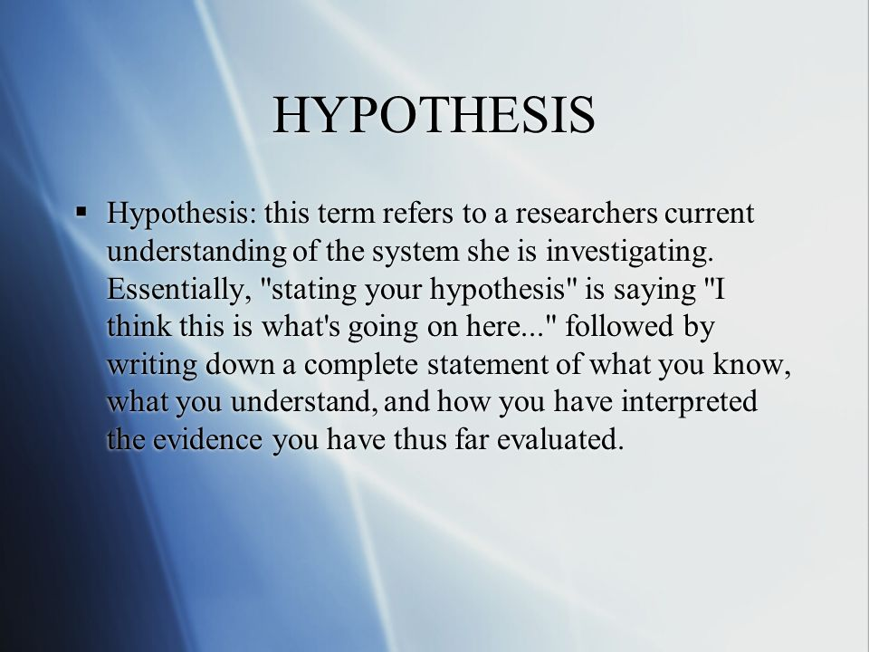 Writing A Good Hypothesis Using cause and effect and prediction to help you write hypotheses.