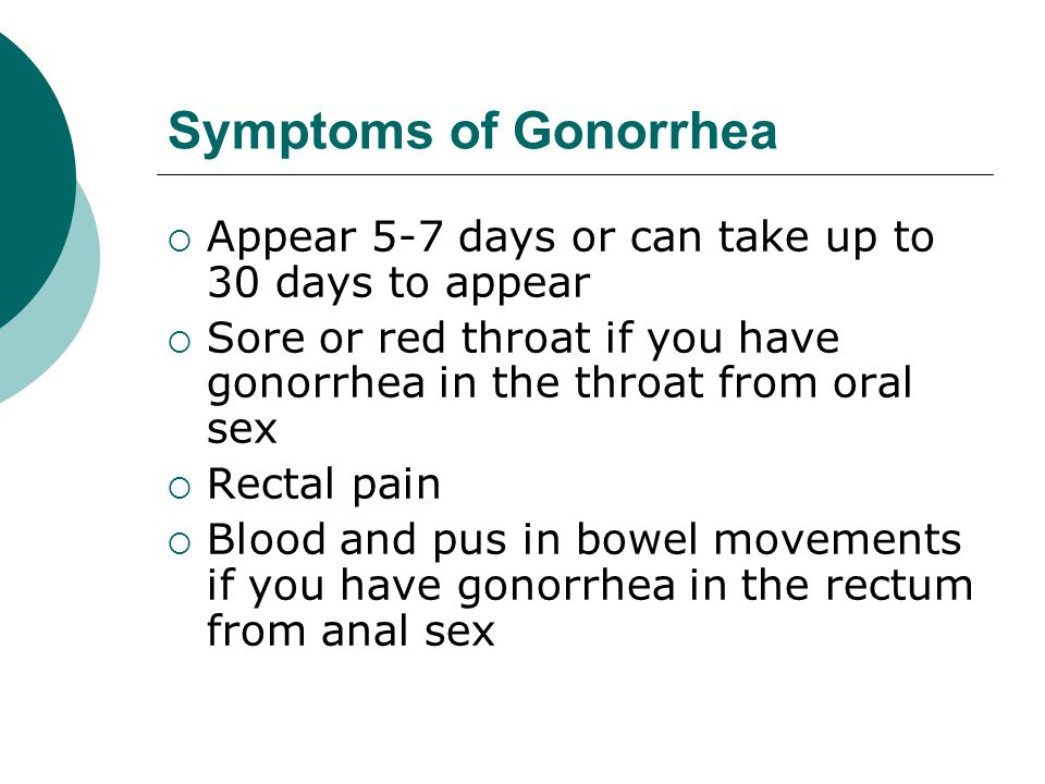Gonorrhea  Each year approximately 650,000 people in the United States are infected with gonorrhea  People get gonorrhea from close sexual contact (