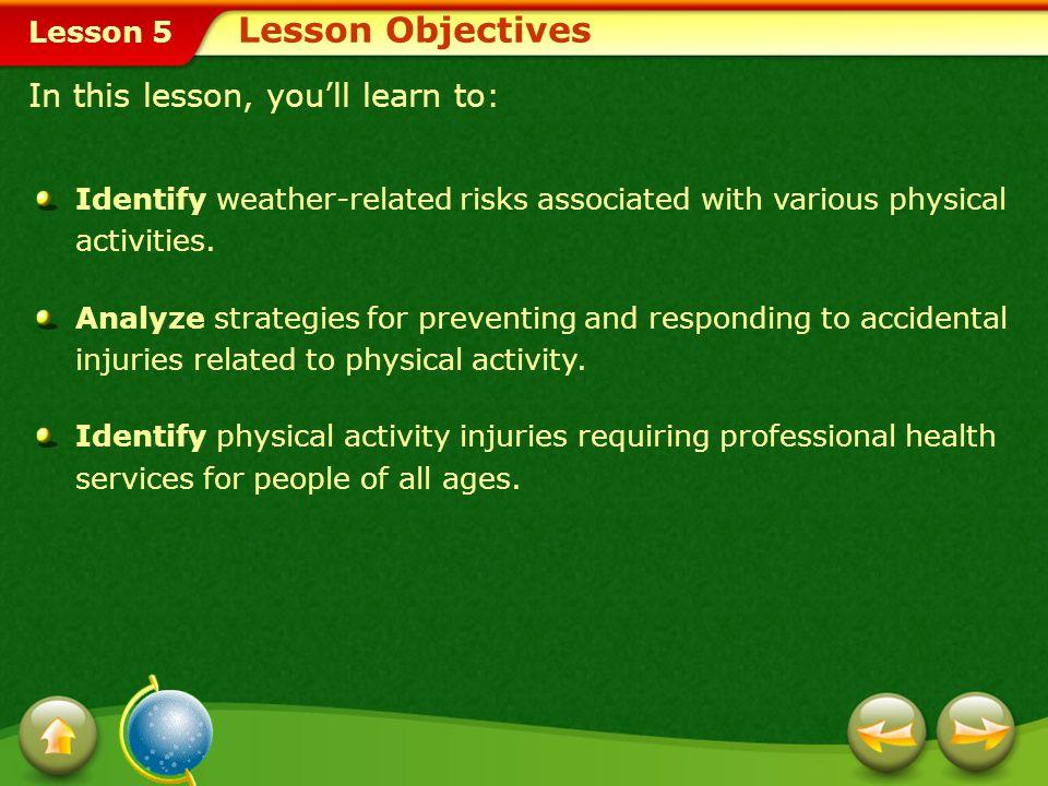 Lesson 5 The R.I.C.E. Procedure Minor Injuries