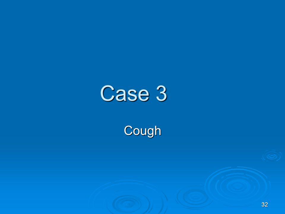 32 Case 3 Cough
