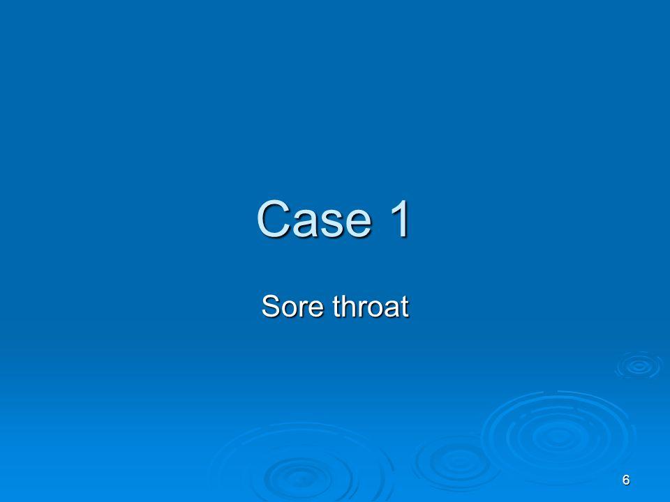 6 Case 1 Sore throat