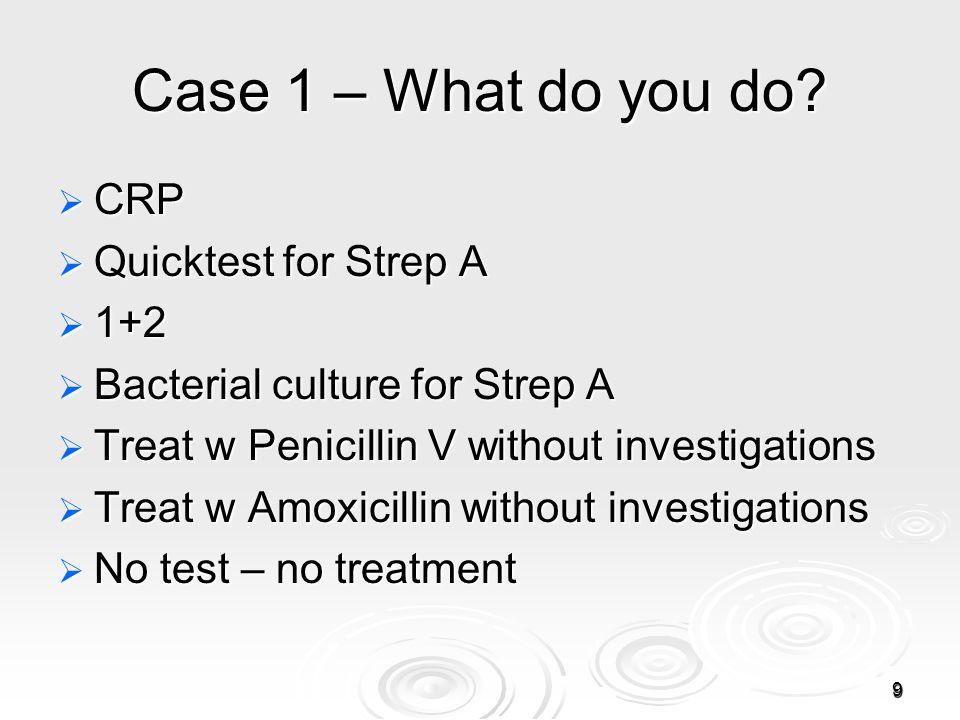 9 Case 1 – What do you do.