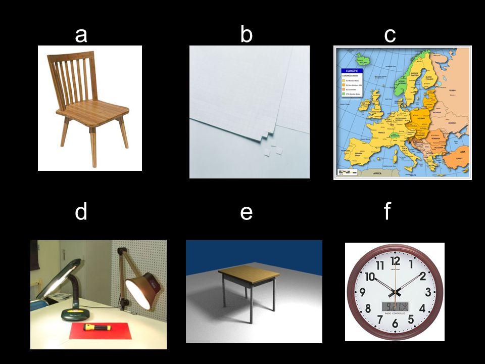 a e b d c f