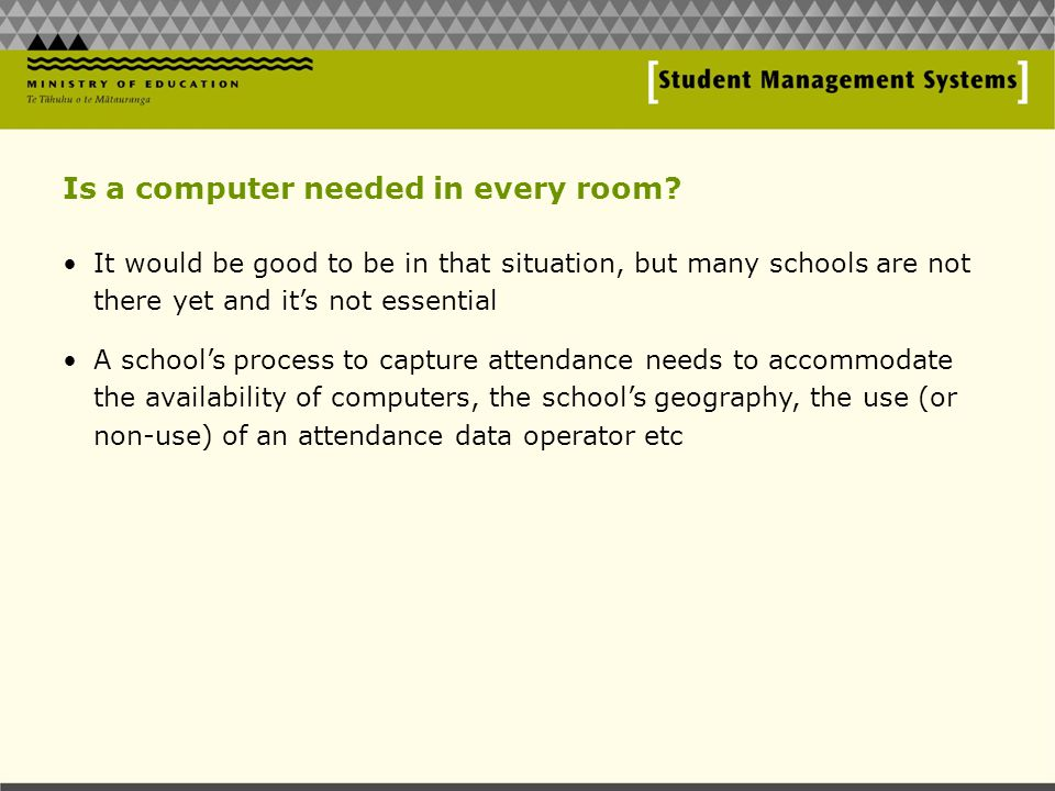 Is a computer needed in every room.