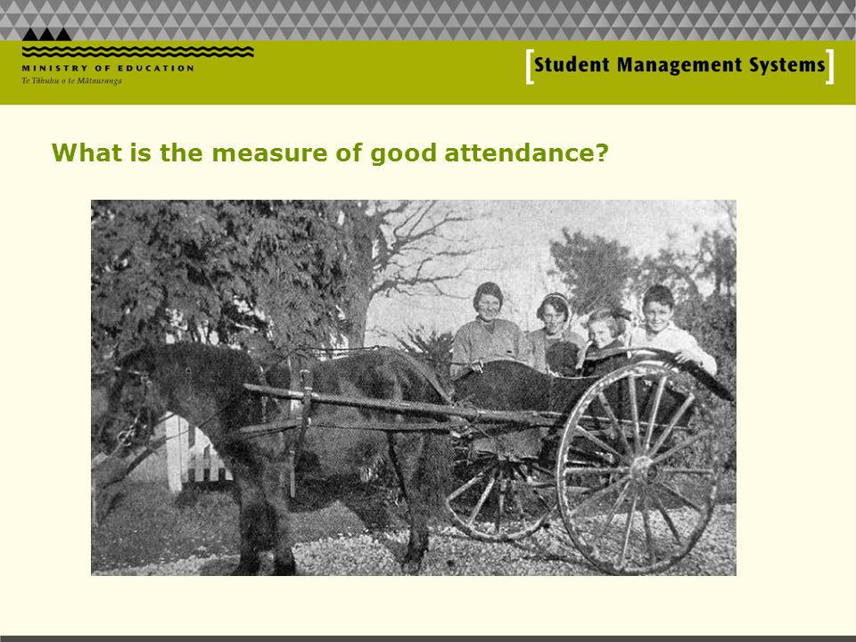What is the measure of good attendance