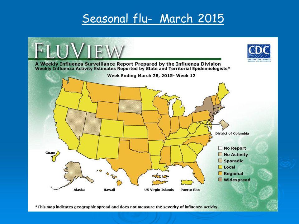 Seasonal flu- March 2015