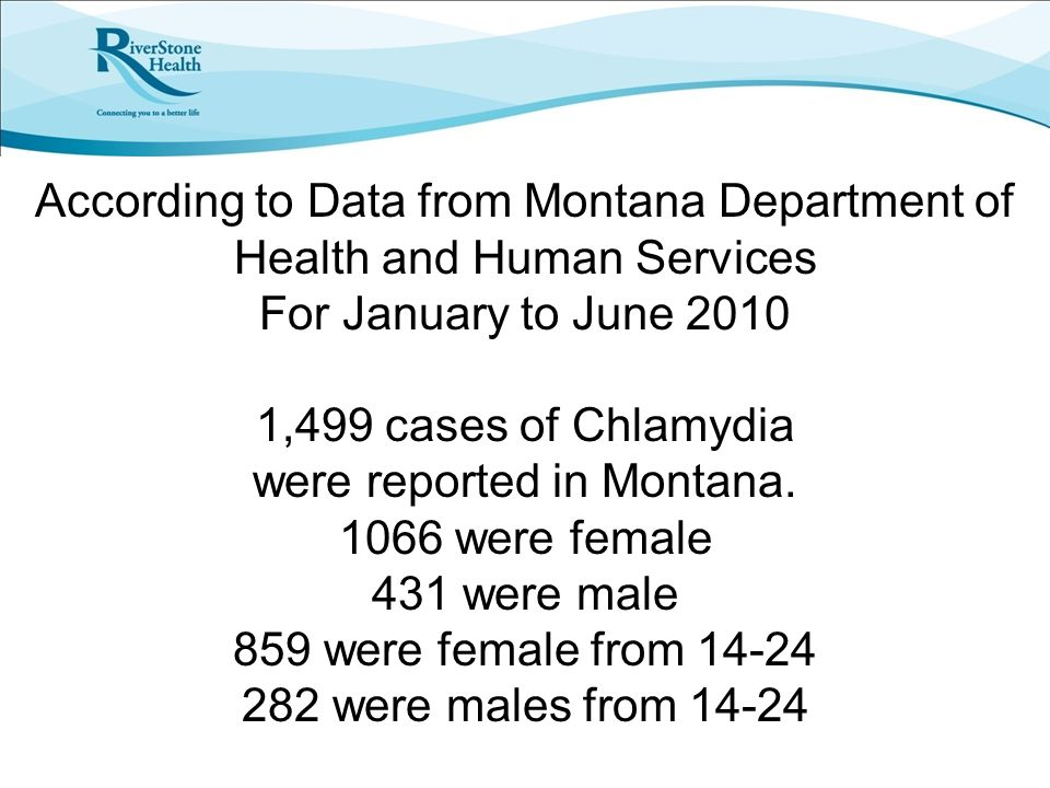 According to Data from Montana Department of Health and Human Services For January to June 2010 1,499 cases of Chlamydia were reported in Montana.