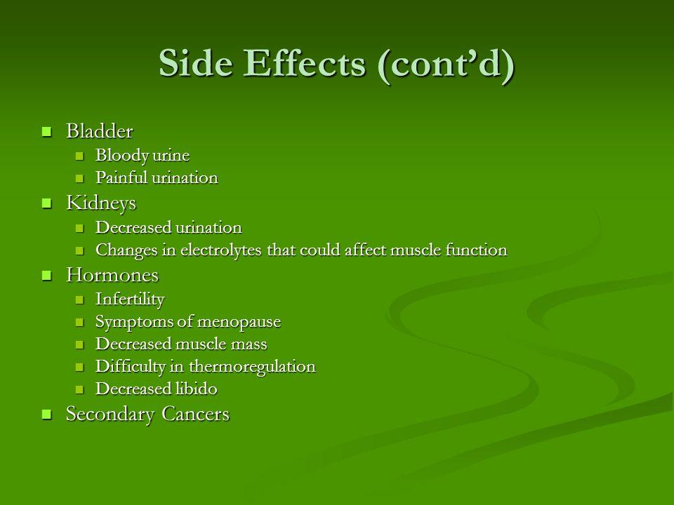 Side Effects (cont'd) Skin Skin Rash Rash Increased sensitivity Increased sensitivity Dry Dry Alopecia Alopecia Mouth Mouth Ulcers Ulcers Dry Dry Poor dentition Poor dentition